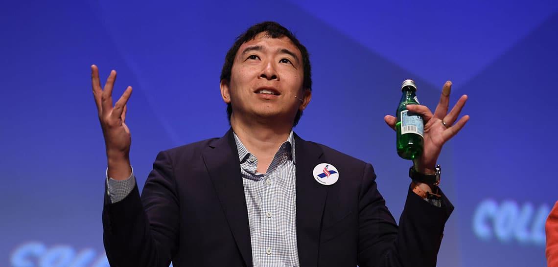 Tech-Reg,  is Andrew Yang crypto's man?
