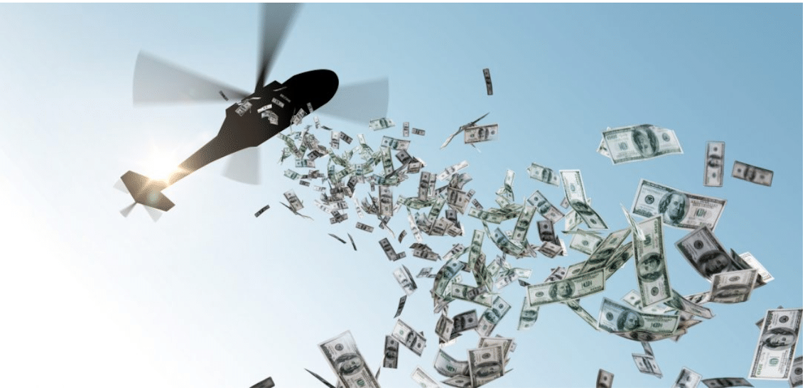 Americans sometimes use helicopter money to buy Bitcoin